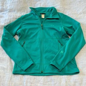 Patagonia teal full zip soft jacket